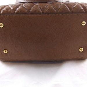 Vera Bradley Quilted Leather Cognac Handbag